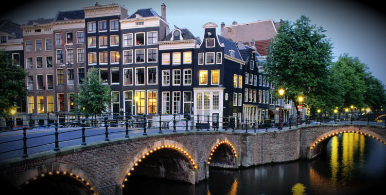 Amsterdam, Netherlands home to 779,808 people.