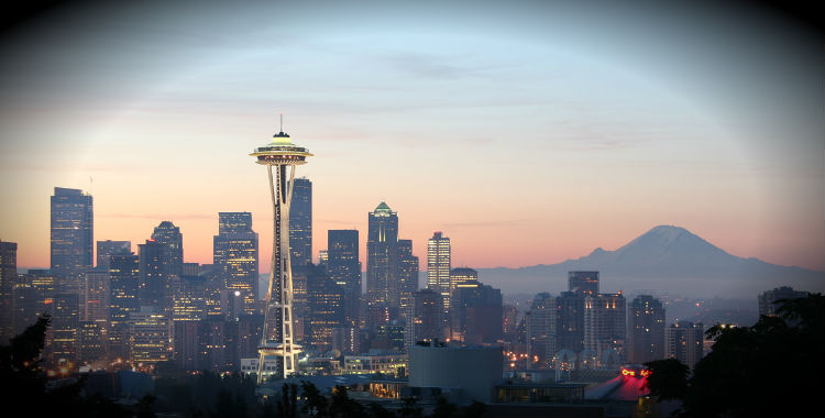 Seattle (WA), United States of America home to 616,627 people.